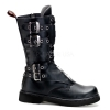 DEFIANT-302 Black Faux Leather